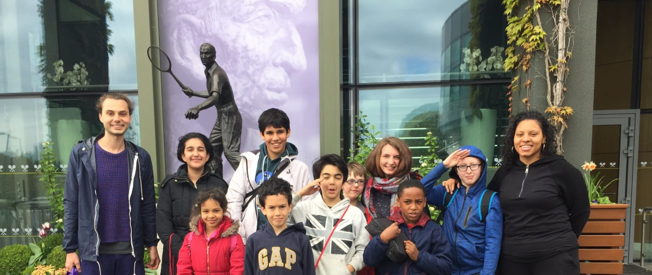 An extra special Wimbledon tour for KIDS beneficiaries